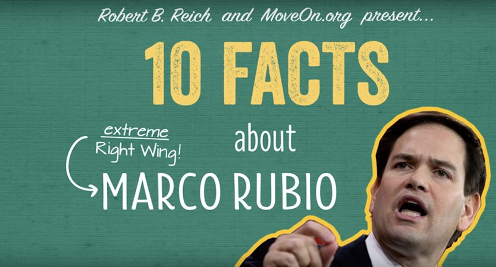 'Extreme right-wing' Marco Rubio is no moderate: Robert Reich