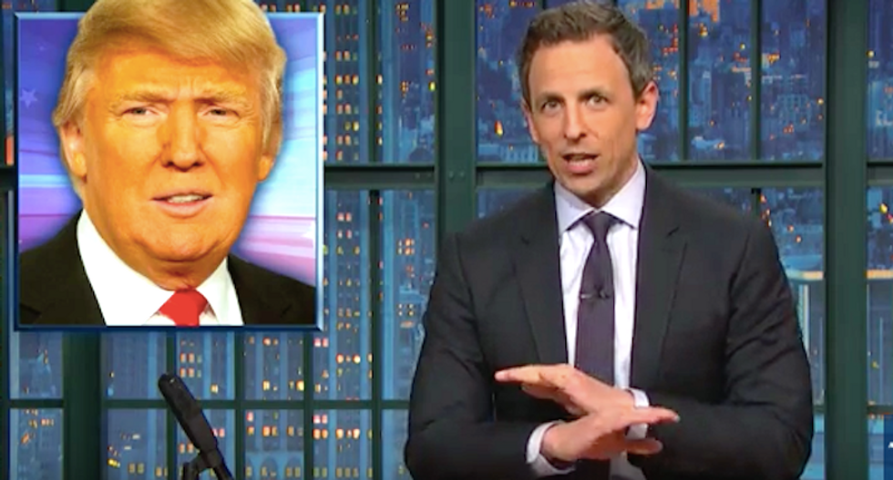 Seth Meyers destroys wannabe dictator Trump — the 'motherf*cking snake' on the 'motherf*cking plane'