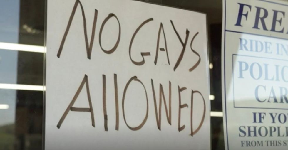 Supreme Court cake ruling inspires hardware store owner to put up a 'No Gays Allowed' sign