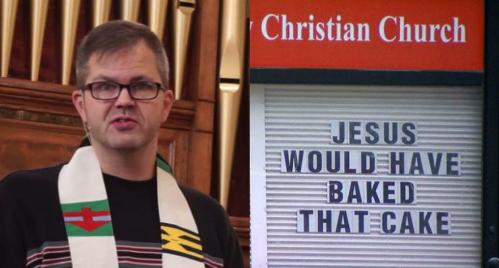 'Jesus would have baked that cake': Denver pastor posts sign decrying baker's refusal to serve gay customers
