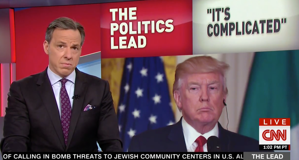 Tapper ridicules Trump for 'cramming like a college kid during finals week' as 100-day deadline looms