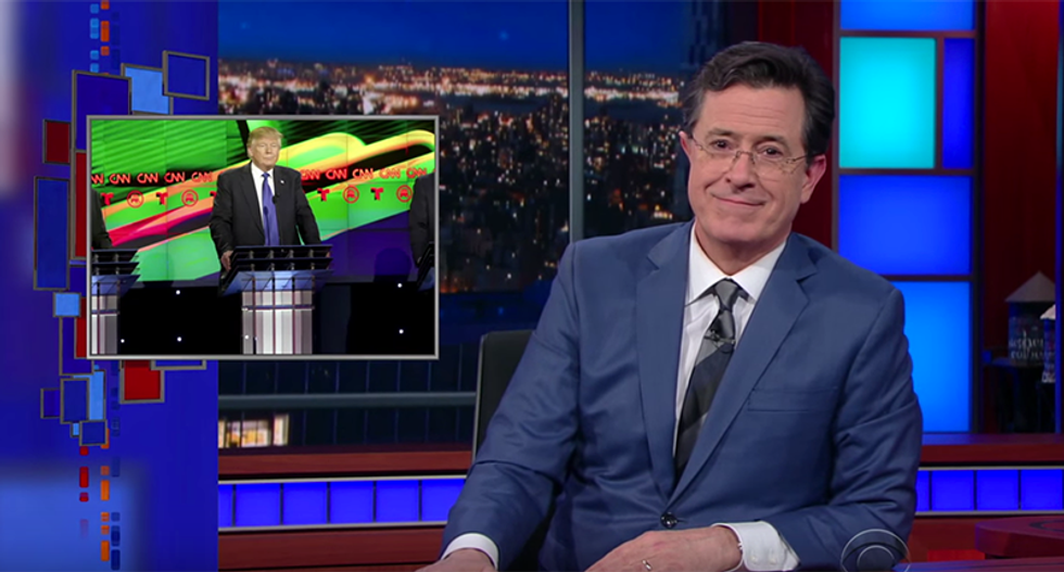 Colbert hilariously crushes Trump for a misspelled tweet that's really about his manhood
