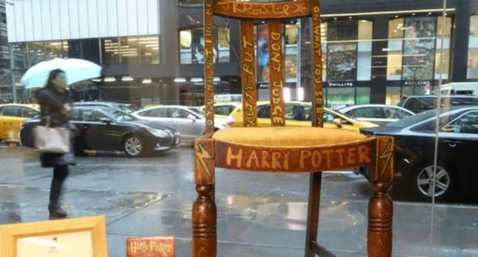 J.K. Rowling puts chair she used while writing early 'Harry Potter' books up for auction
