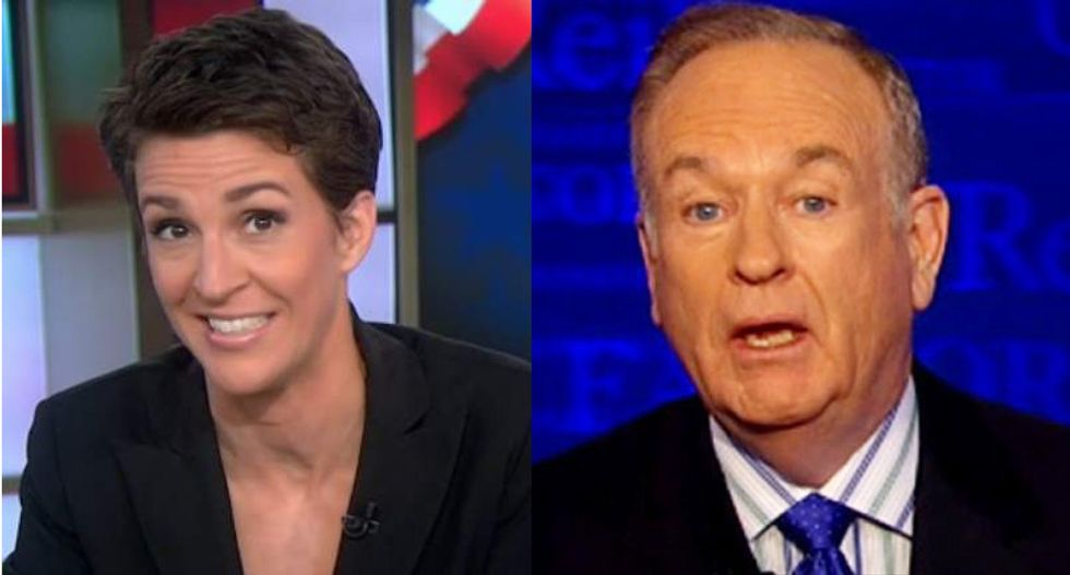 Maddow ratings surge against Fox in the Trump era as O'Reilly is booted from the network