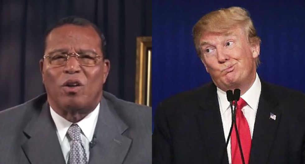Nation of Islam's Louis Farrakhan joins KKK in praise of Donald Trump: 'I like what I'm looking at'