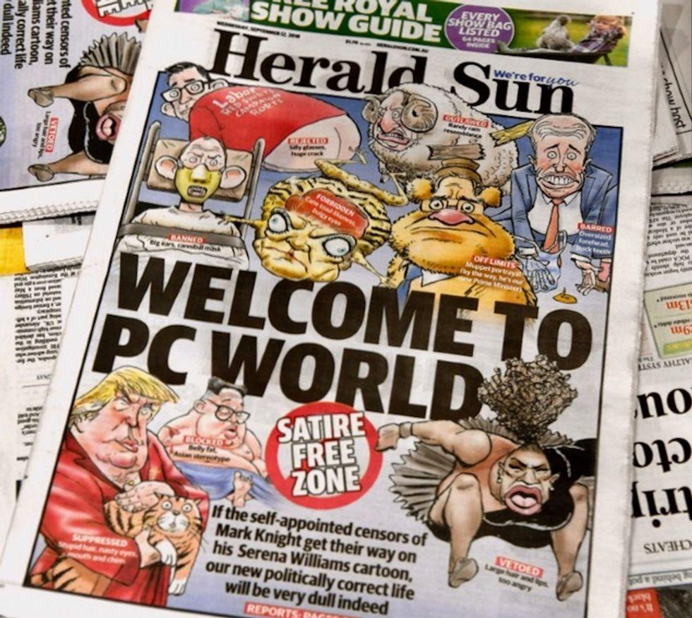 Serena cartoon fuels debate about 'racist' Australia