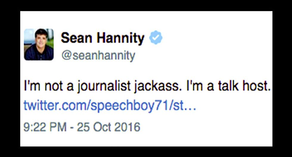 Sean Hannity melts down online: He's 'slowly losing his mind right before our eyes'