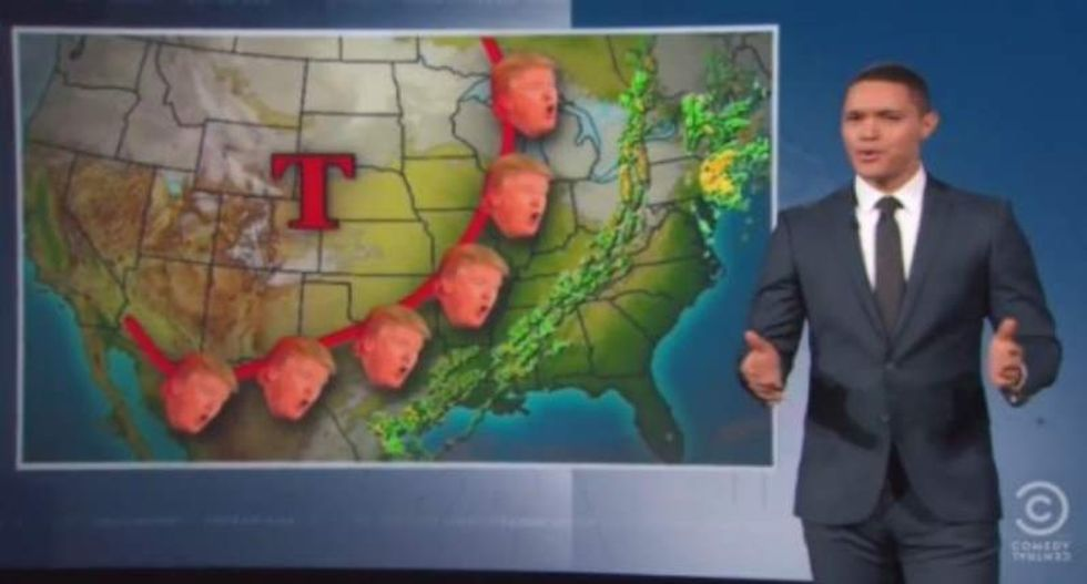 Trevor Noah hammers the GOP for treating Trump like climate change -- 'they deny it'