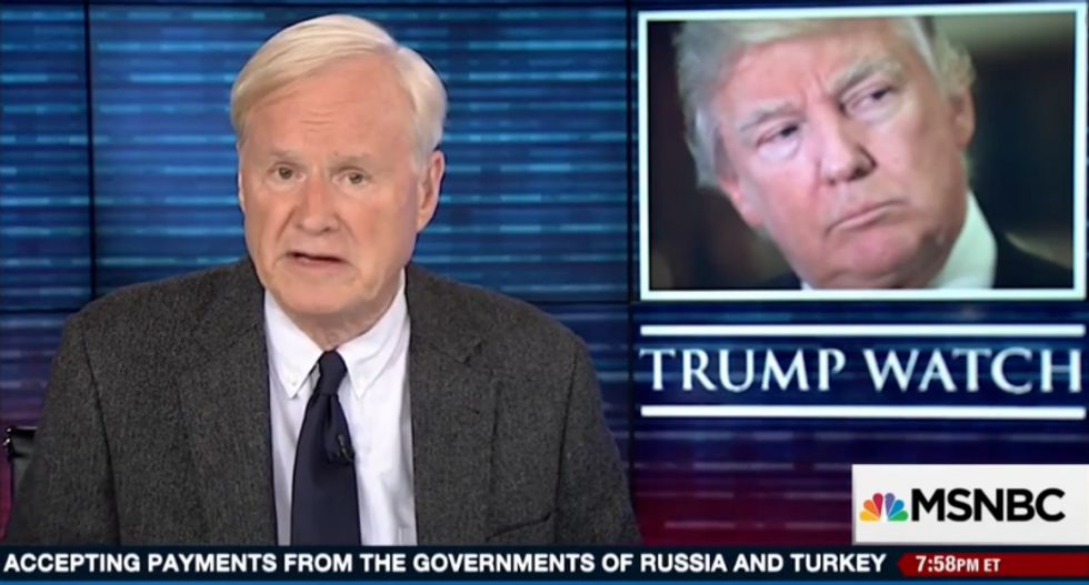 'This country cannot survive with a failure at the top': Chris Matthews explodes at 'pure evil' Donald Trump