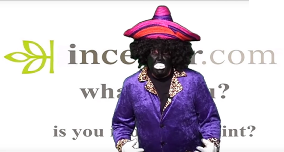 Right-wing radio show disparages 3 races in 60 seconds using a white guy in blackface