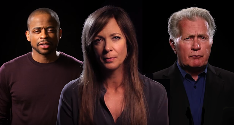 West Wing actors Martin Sheen, Allison Janney and others call for national veterans treatment courts