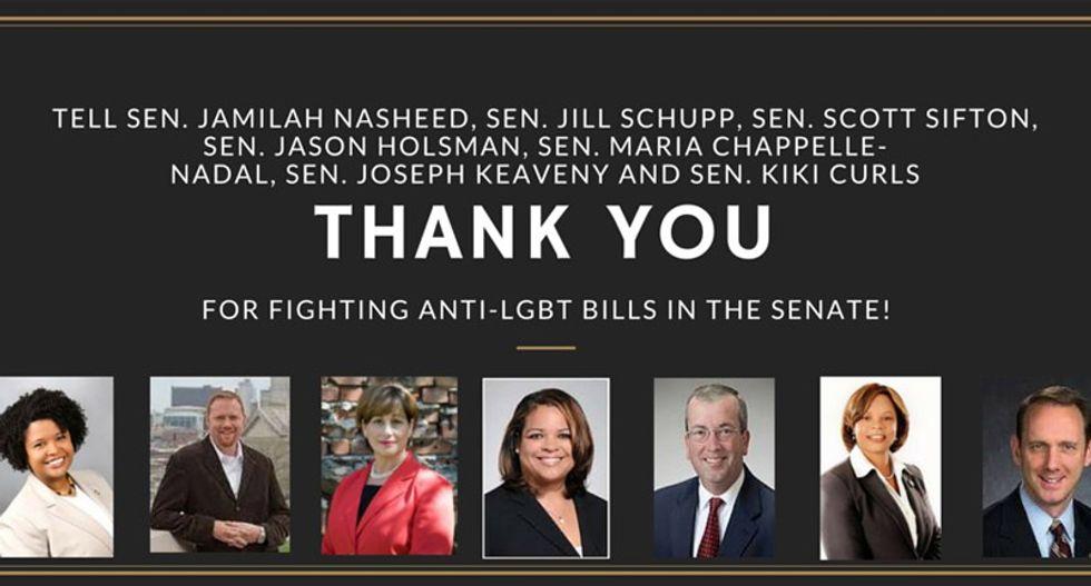LISTEN: Missouri Democratic lawmakers debate anti-gay law as filibuster enters 17th hour