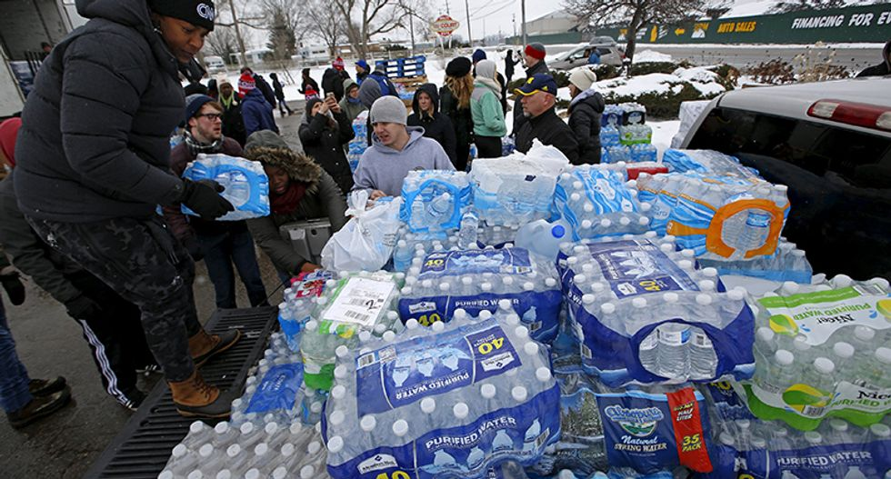Flint becomes U.S. Democratic flash point, but residents want action
