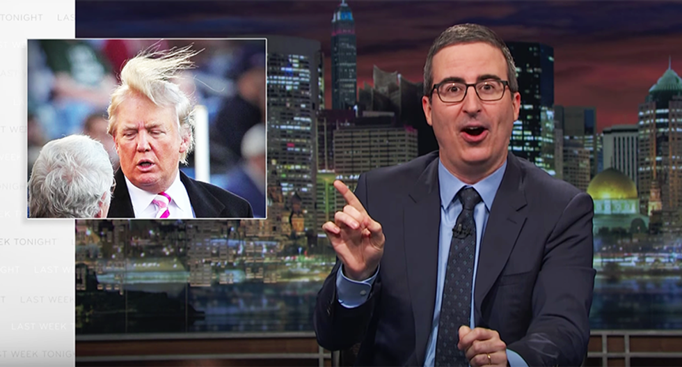 John Oliver warns Trump didn't have an 'Ebenezer Scrooge moment' deciding to be 'good' -- he's still Trump