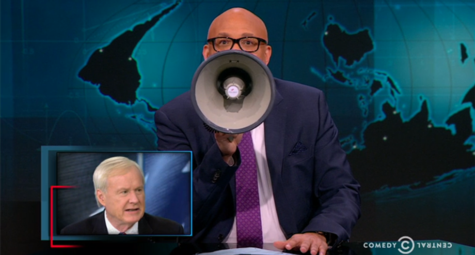 Larry Wilmore slams 'a*shole' Chris Matthews for complaining about Hillary yelling into mic