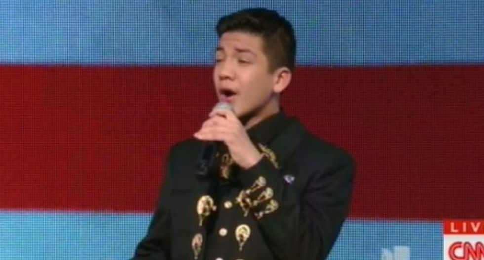 Twitter racists freak out after Mexican-American teen sings national anthem at #DemDebate