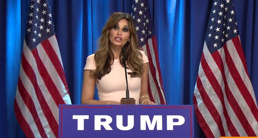 Watch Gina Gershon hilariously spoof Melania Trump in this new Funny or Die video