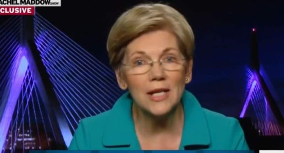 Elizabeth Warren slams Trump for blurting out 'racial slur' during Native American event