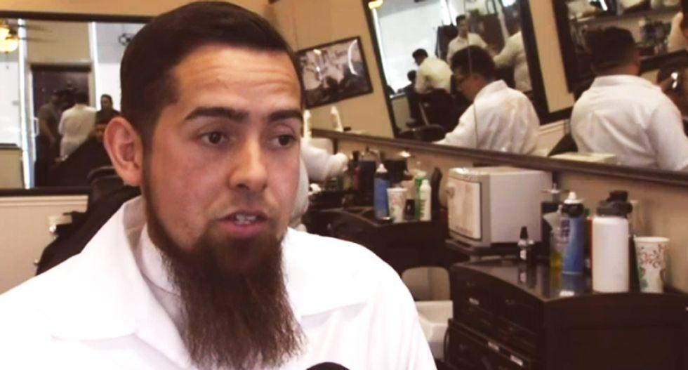 California barber says Bible told him not to cut transgender veteran's hair