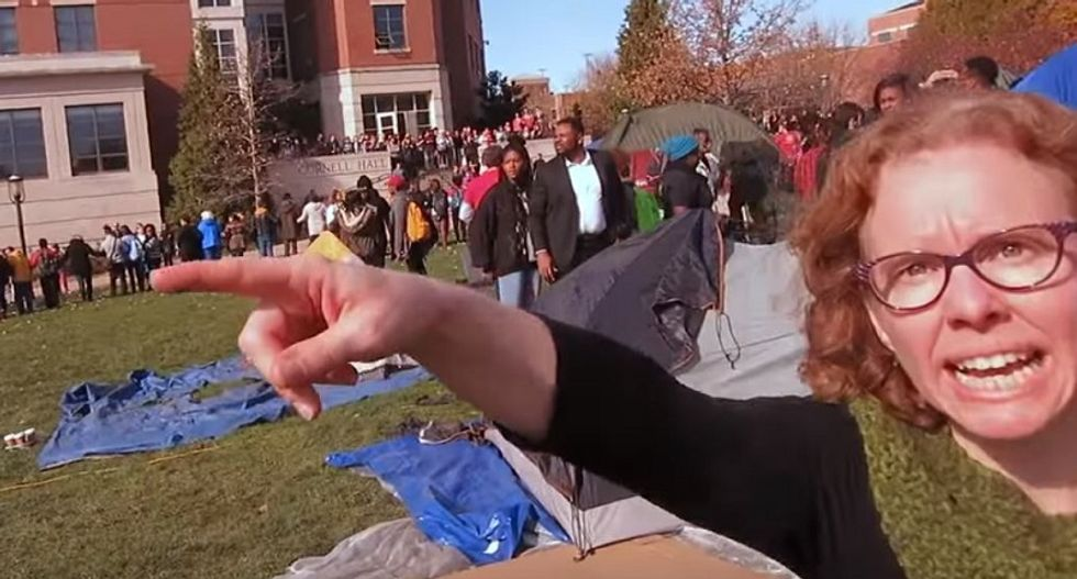 Mizzou journalism faculty voting on booting out 'I need some muscle' professor who blocked reporter