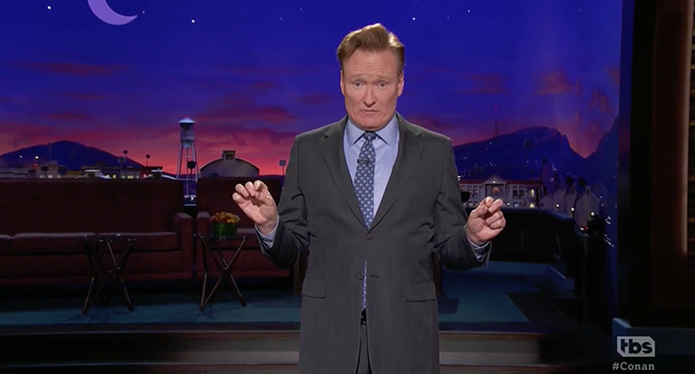Conan O'Brien finds faux 'North Korea's summit film' promising GOP political enemies will be in jail if Trump sends money