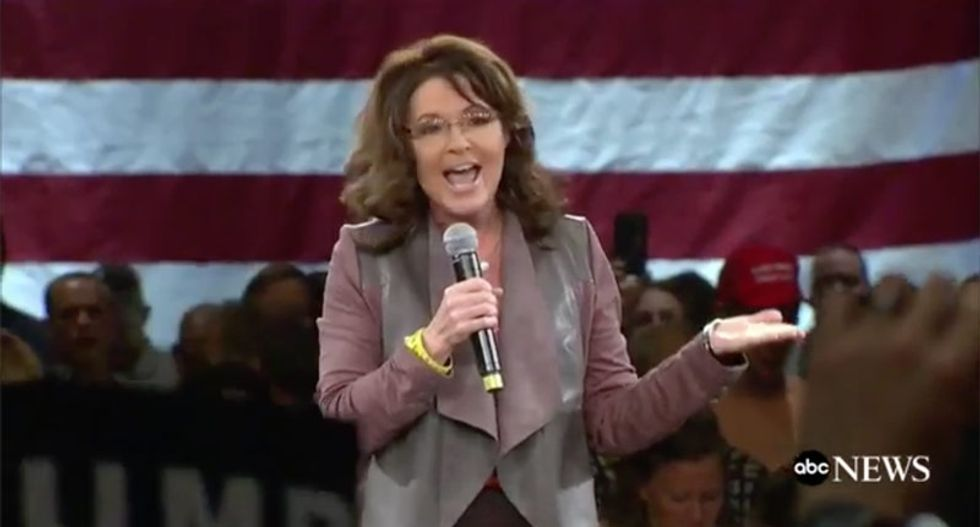 Internet shames Palin for Julian Assange apology: She 'can collude with Russia from her house'