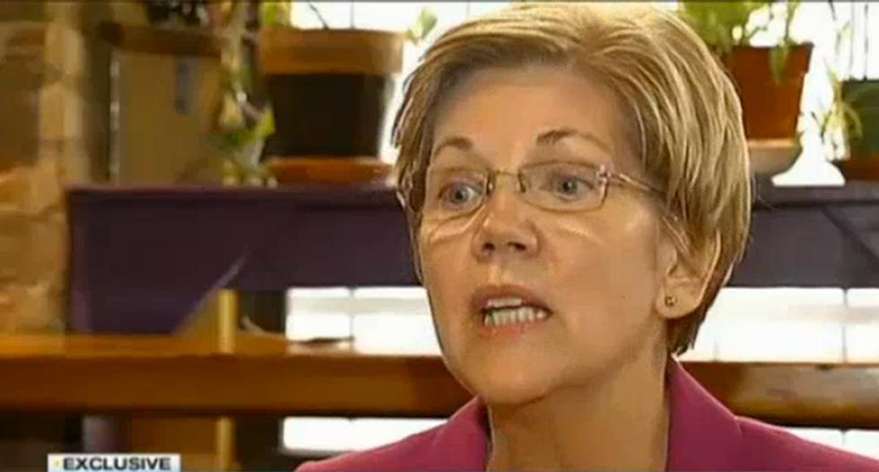 Elizabeth Warren slams Mitt Romney for not coming out sooner against Trump's extremism
