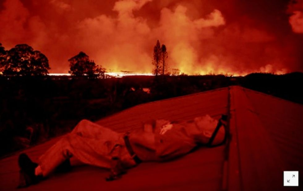Cut off by Hawaii lava, pot growers refuse to let go of dream