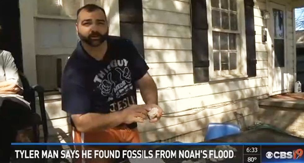 Texas man's discovery of Noah's flood fossils in front yard 'confirmed' sight-unseen by biblical  scholar