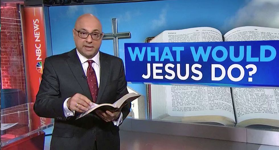 MSNBC's Ali Velshi puts his religion degree to work fact-checking Sessions and Sanders: 'We're going to church'