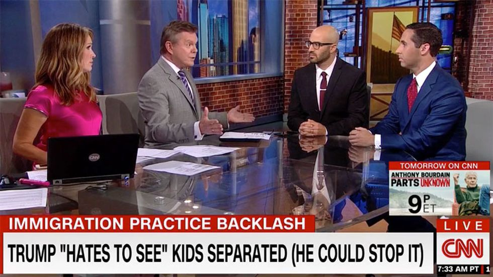 CNN panel blows up after Democratic strategist compares Trump to Hitler over his 'concentration camps' for kids