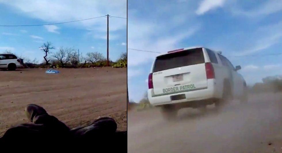 Border Patrol investigating agent who ran down Native American protestor and drove away