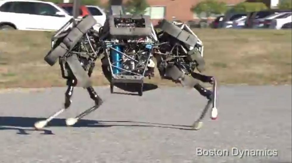 When the robot apocalypse arrives, this is what will be chasing you