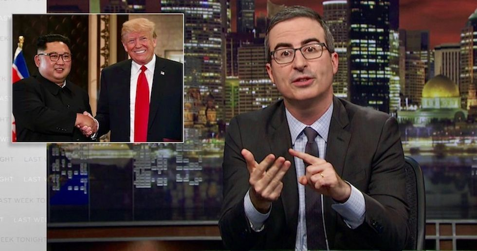 John Oliver compares Trump telling Americans to 'sleep well' after North Korea summit -- to the Grim Reaper saying 'happy birthday'