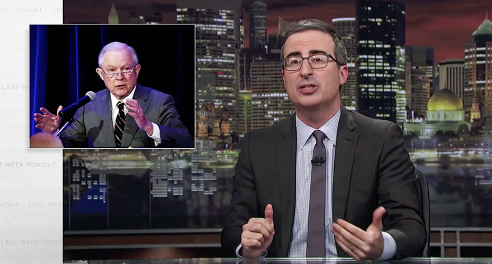 'It's not a f*cking law!': John Oliver rains hellfire down on justification for tearing families apart in Jeff Sessions takedown