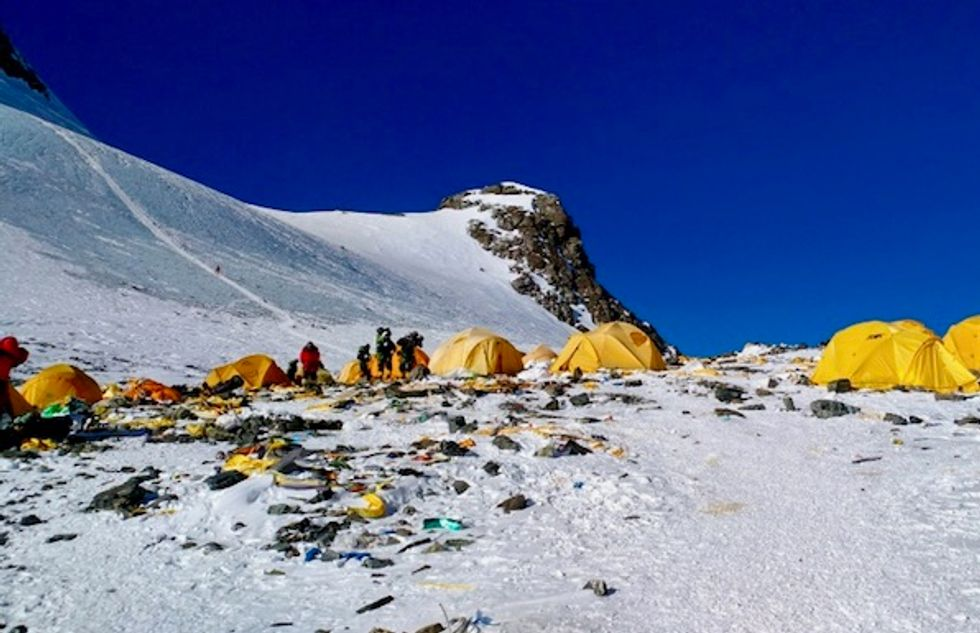 Mount Everest, the high-altitude rubbish dump