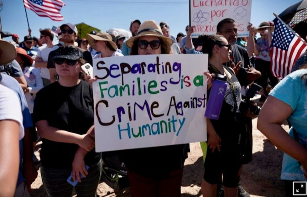 Democrats, activists rally against Trump's family separation policy