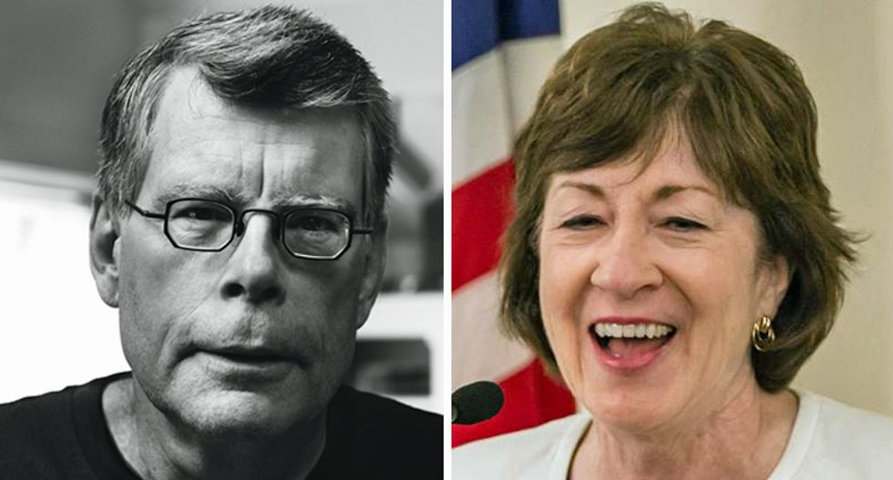 Stephen King vows to take down Susan Collins if she votes to confirm Brett Kavanaugh