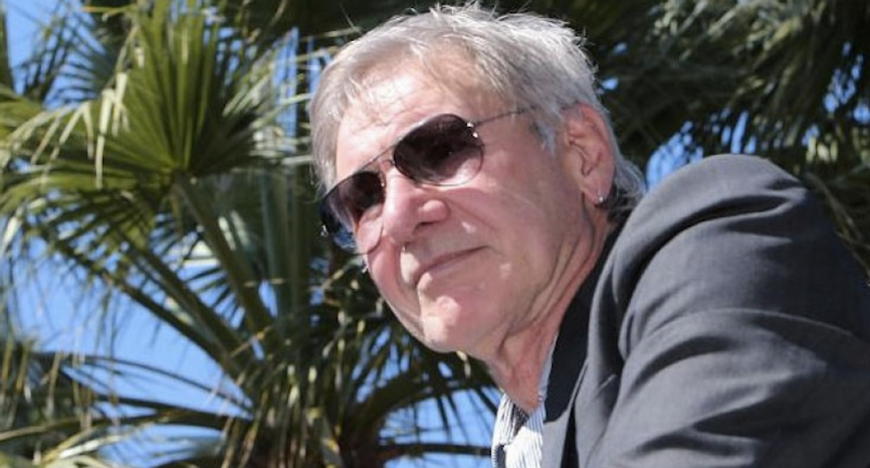 Actor Harrison Ford says the United States has lost its 'credibility' and 'moral leadership'