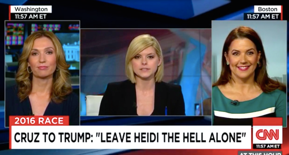 WATCH: Trump supporter stuns Cruz ally on CNN by naming her as one of Ted Cruz's alleged mistresses
