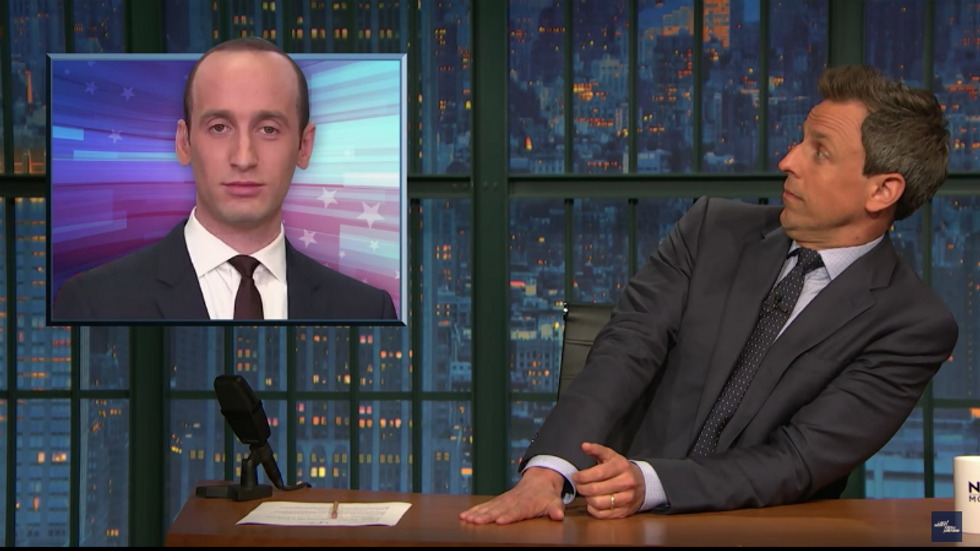 Seth Meyers blasts White House aide Stephen Miller for being 'evil': He actually wants 'credit for a policy so cruel'