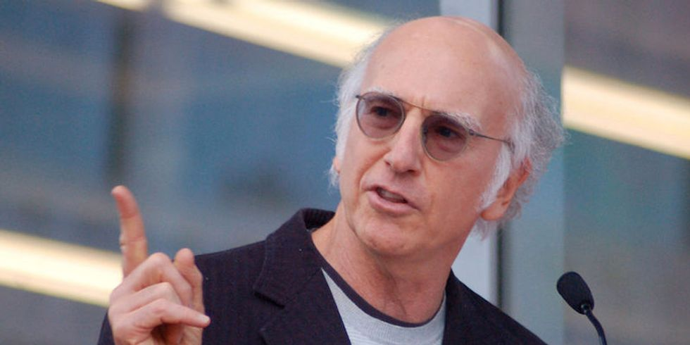 Larry David has the best rebuttal for people accusing Bernie Sanders of hiding his Jewish identity