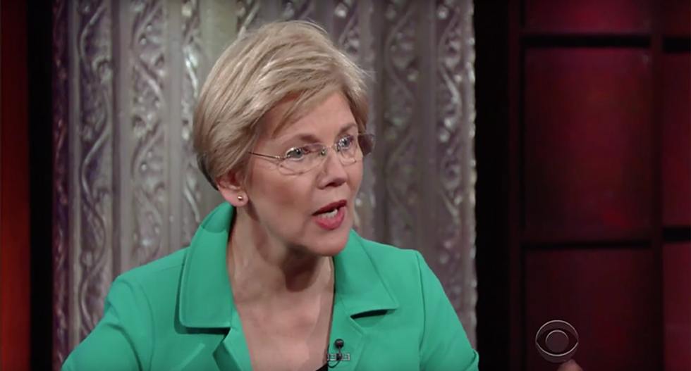 Elizabeth Warren absolutely shreds 'terrifying' Trump/Pence ticket: 'Two small, insecure, weak men'
