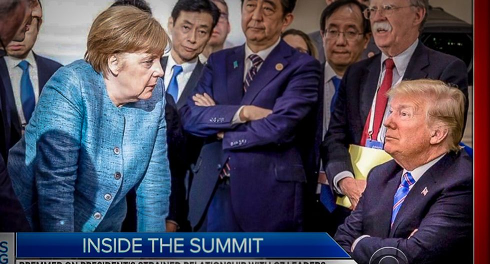 Trump 'threw' Starburst candies at German Chancellor Merkel during summit: 'Don't say I never gave you anything'