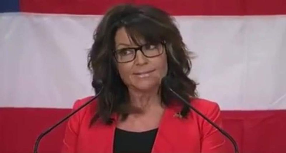 Sarah Palin flops with weird speech about immigrants 'seduced' with 'teddy bears and soccer balls'