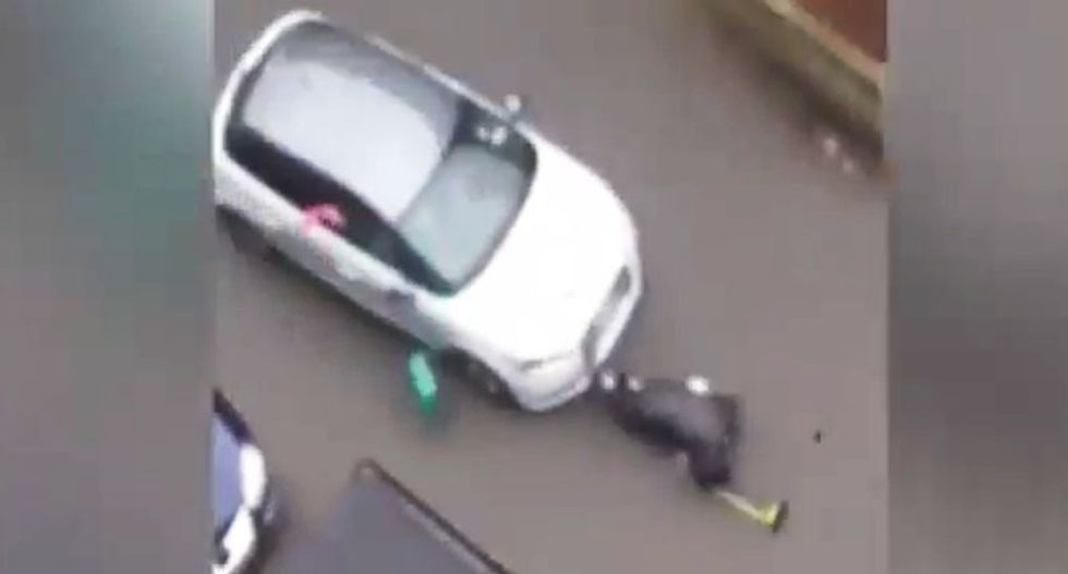 WATCH: Shocking footage of Muslim woman being mown down by car at anti-Islam protest