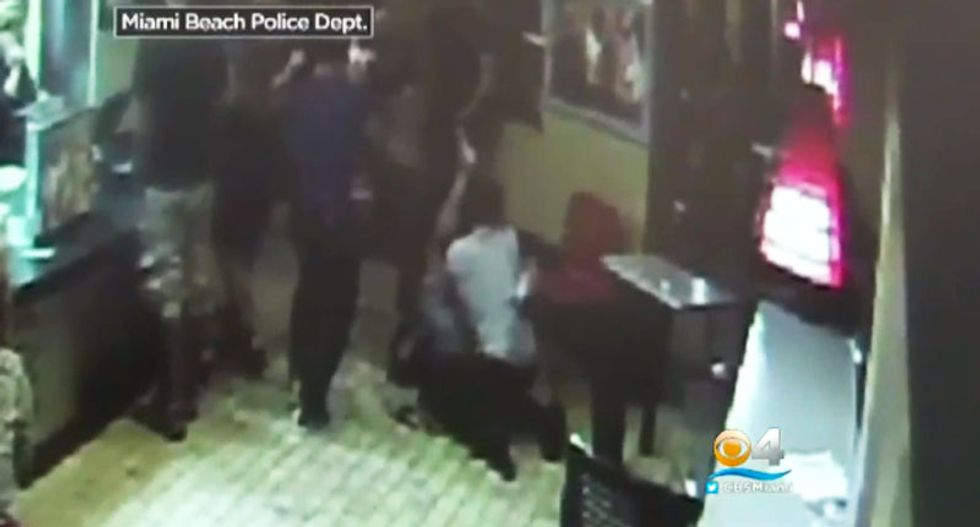 Disturbing video shows gay man brutally attacked in Miami Burger King after kissing his partner