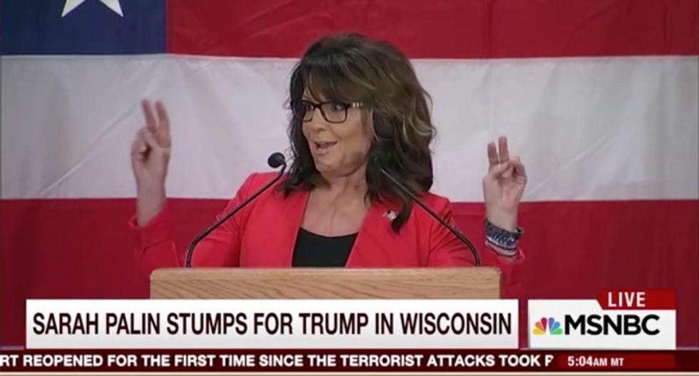 'Morning Joe' panel skewers Palin's rambling Wisconsin speech: Has she 'taken the bad acid?'