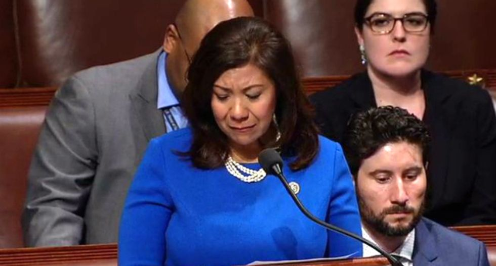 Latina congresswoman who migrated across the Mexico border tears up while denouncing the GOP's cruelty