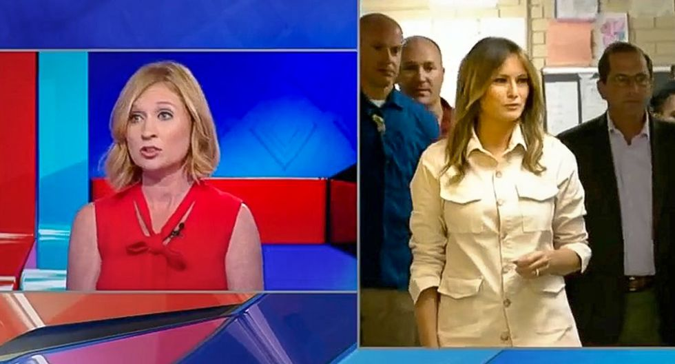 Reporter gasps after Melania whitewashes Trump's child camps: 'That briefing was like everything's fine'